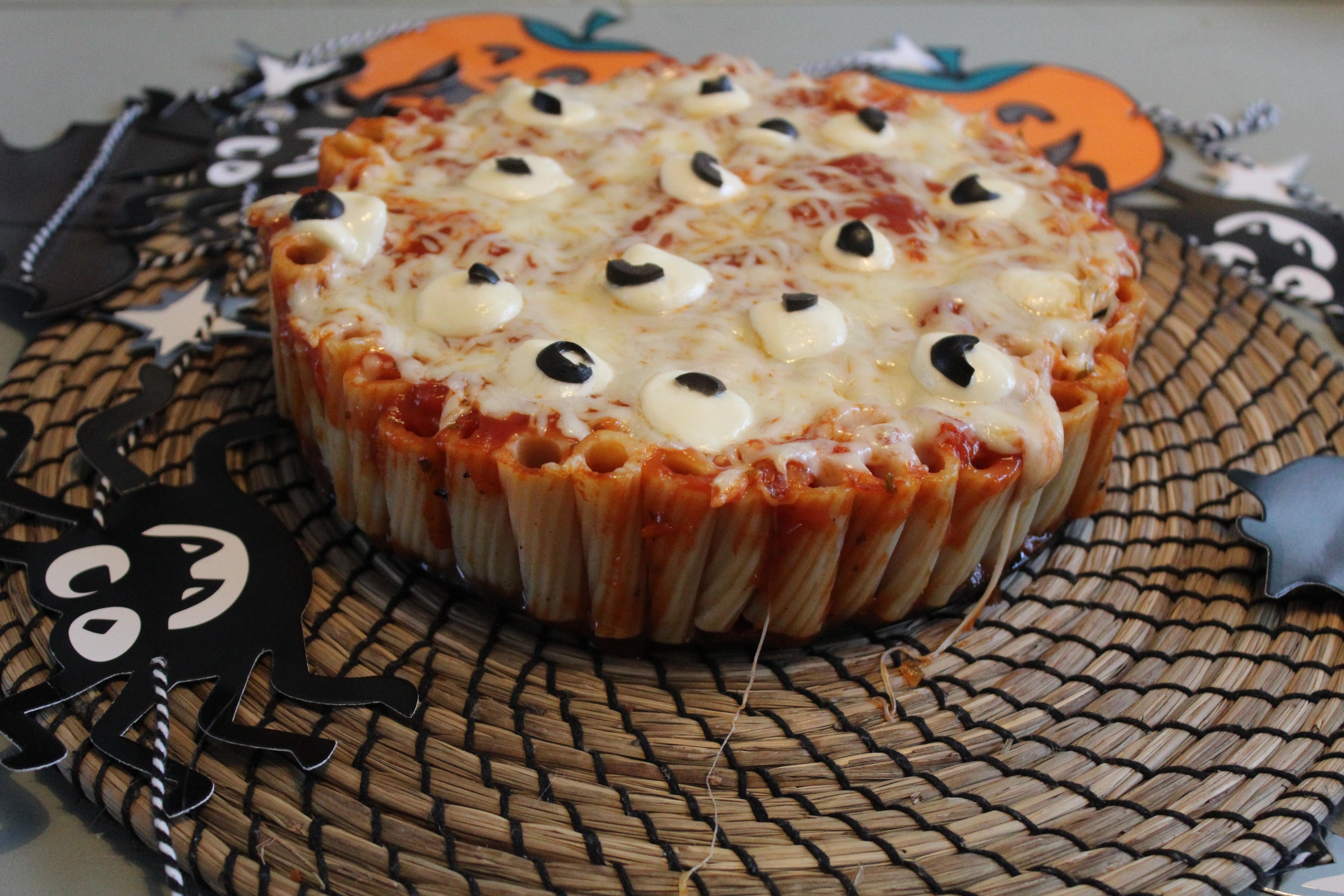 Halloween Pasta taart
