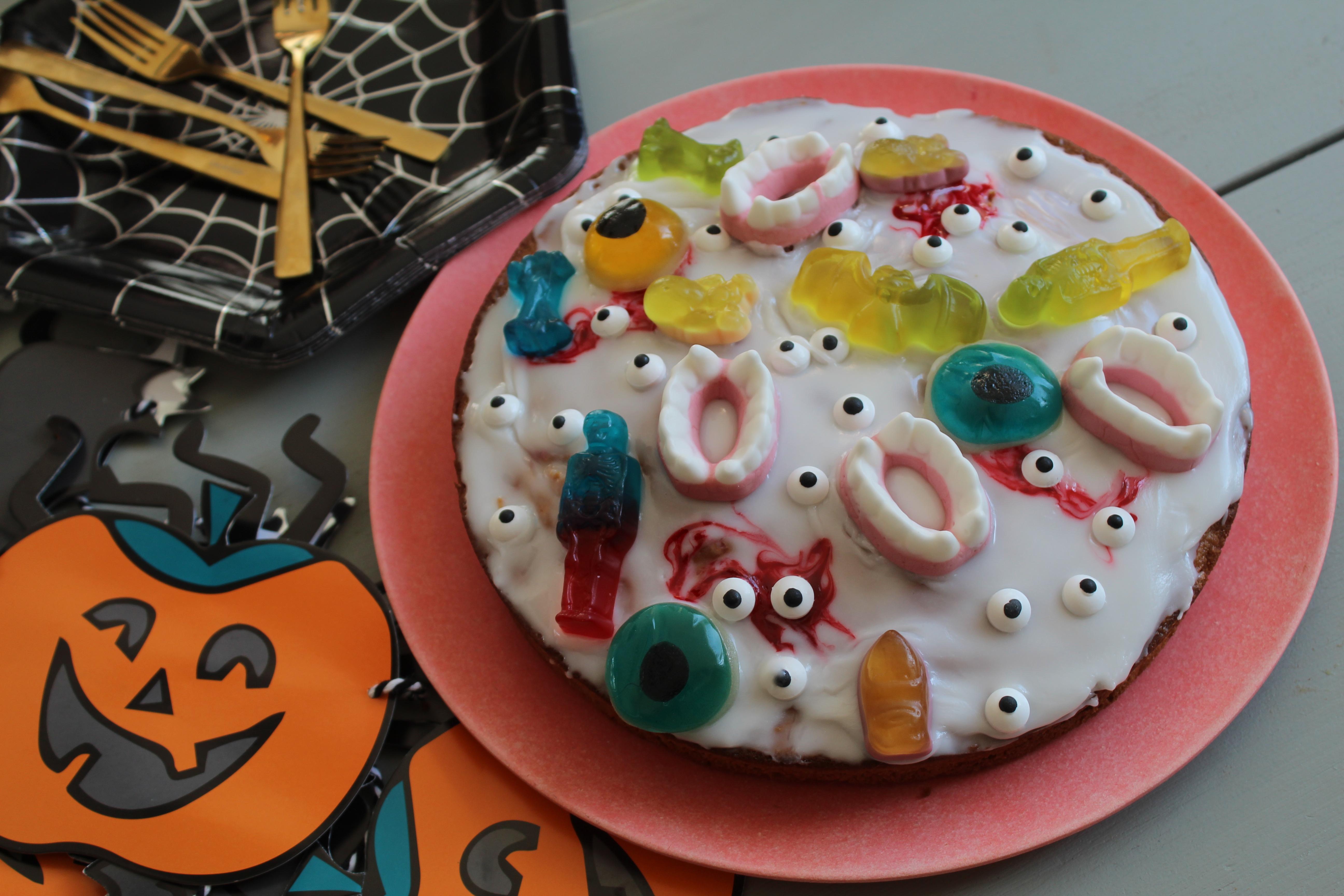 Simpele Halloween taart