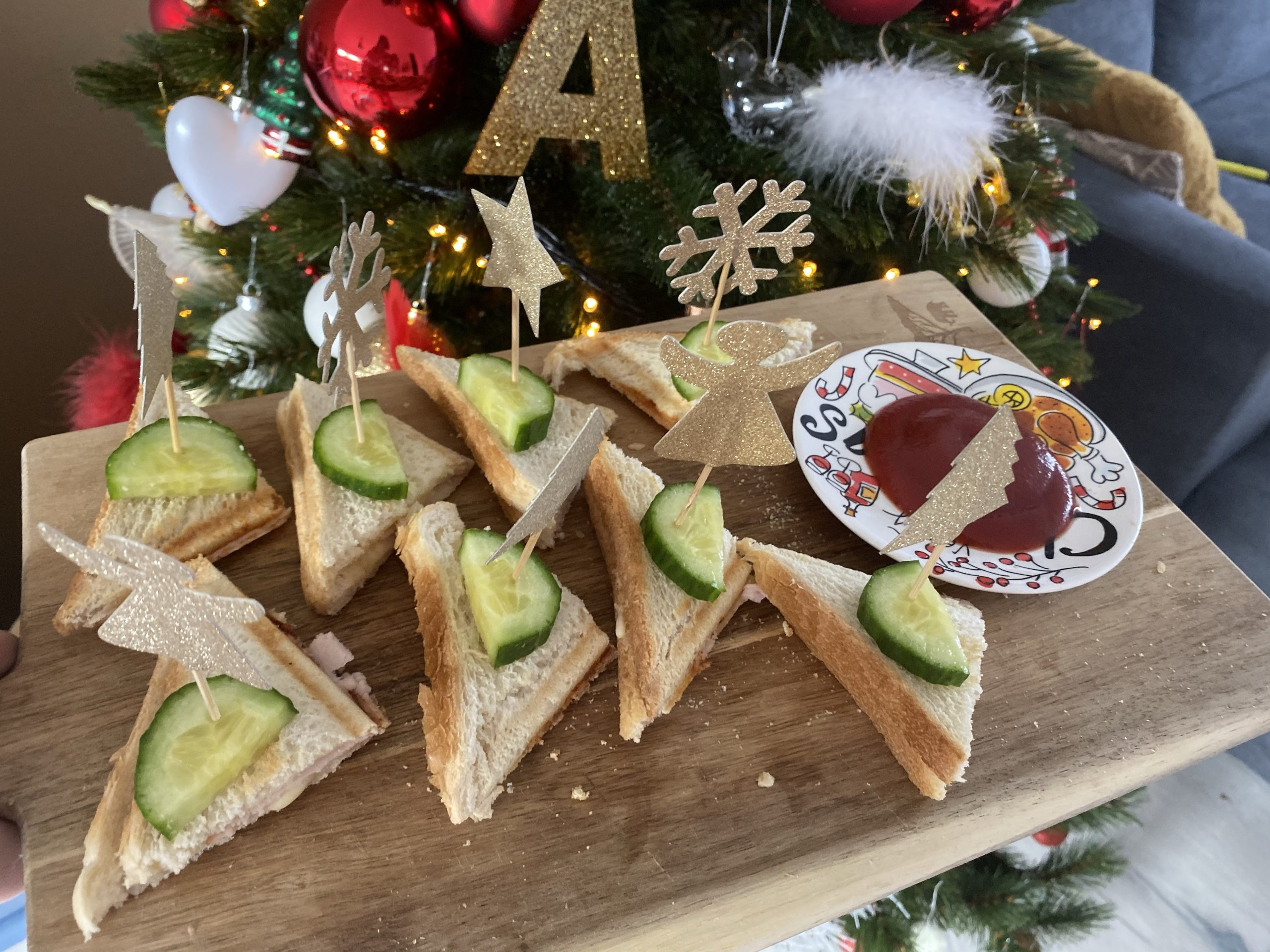 Tosti hapjes    Kerst diner op school